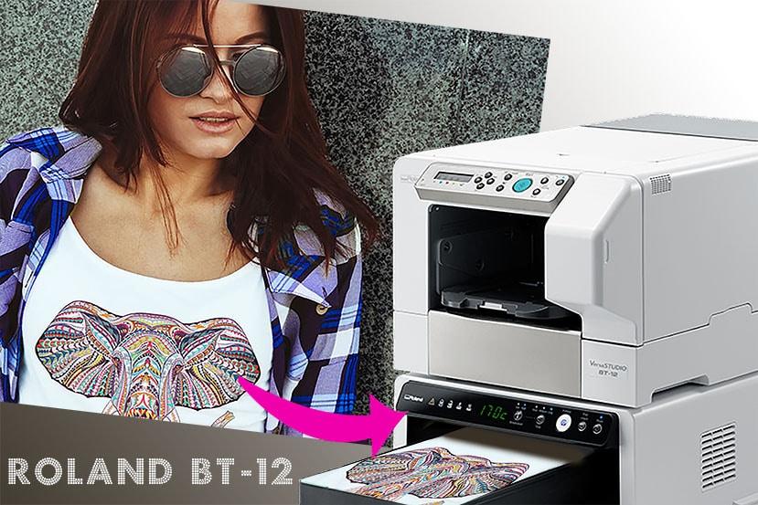 Roland BT-12 desktop T-shirt printer – Sixcolors